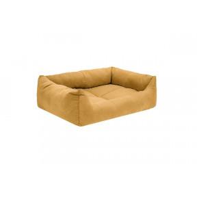 Лежак для собак и кошек Дарэлл Манеж-Бархат №3 94433 охра, прямоугольный пухлый, 65х49х16 см