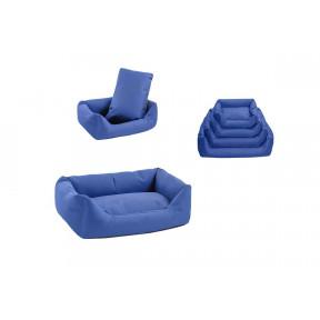 Лежанка для собак Дарэлл-Оксфорд №2 9402 синяя прямоугольная 71х51х21 см