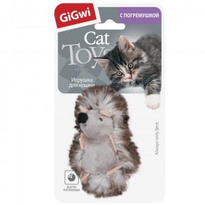 Игрушка для кошек GiGwi Cat Toys Ежик с погремушкой (75029) 7 см