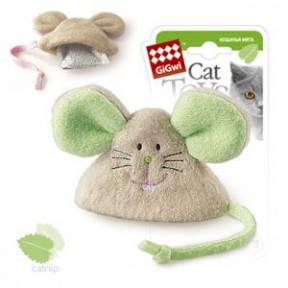 Игрушка для кошек GiGwi Cat Toys Мышка с кошачьей мятой (75041) 8 см