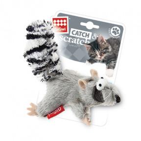 Игрушка для кошек GiGwi Catch & Scratch Енот с кошачьей мятой (75384) 8 см