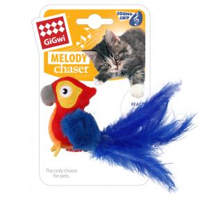 Игрушка для кошек GiGwi Melody Chaser Попугай со звуковым чипом (75459) 12 см