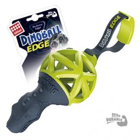 Игрушка для собак GiGwi Dinoball Edge Динозавр с ручкой для перетягивания (75428) 8 см