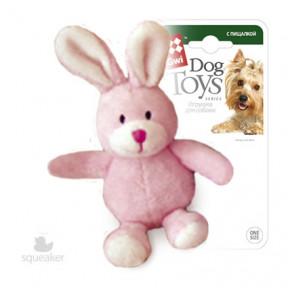 Игрушка для собак GiGwi Dog Toys Зайчик с пищалкой (75119) 11 см