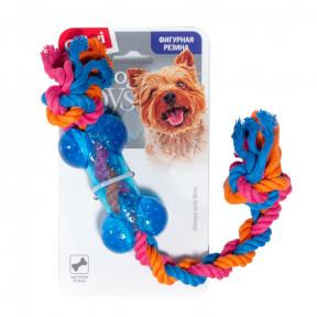 Игрушка для собак GiGwi Dog Toys Косточка на веревке (75252) 26 см