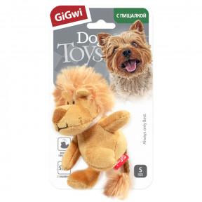 Игрушка для собак GiGwi Dog Toys Лев с пищалкой (75103) 10 см
