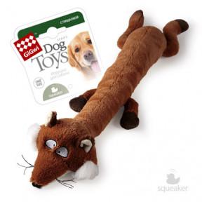 Игрушка для собак GiGwi Dog Toys Лиса с большой и маленькой пищалкой (75231) 63 см