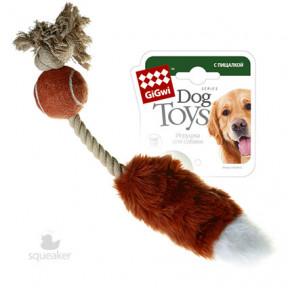 Игрушка для собак GiGwi Dog Toys Лисий хвост с пищалкой без набивки (75074) 40 см