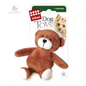 Игрушка для собак GiGwi Dog Toys Мишка с пищалкой (75022A) 10 см