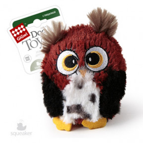 Игрушка для собак GiGwi Dog Toys Сова с большой пищалкой (75228) 12 см