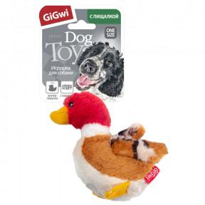 Игрушка для собак GiGwi Dog Toys Утка с пищалкой (75065) 11 см