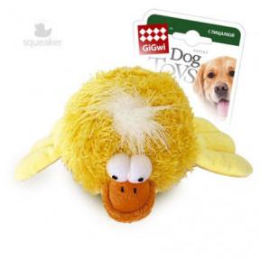 Игрушка для собак GiGwi Dog Toys Утка с пищалкой желтая (75089) 12 см