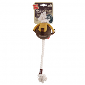 Игрушка для собак GiGwi Gum Gum Dog Текстильныя мяч с набивкой на канате с эко резиной (75458) 40 см
