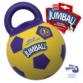 Игрушка для собак GiGwi Jumball Мяч с захватом резиновый жёлто-фиолетовый (75366) 26 см