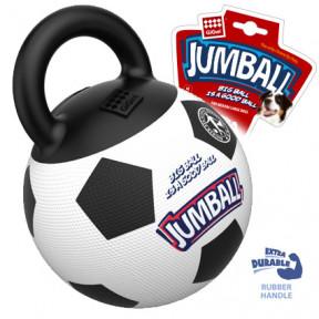 Игрушка для собак GiGwi Jumball Мяч с захватом резиновый чёрно-белый (75365) 26 см