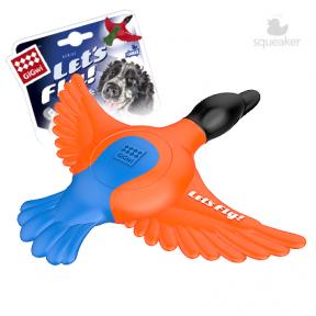 Игрушка для собак GiGwi Let's Fly Утка для метания с пищалкой (75427) 30 см