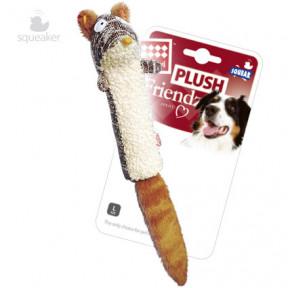 Игрушка для собак GiGwi Plush Friendz Белка с пищалкой прочная (75309) 29 см