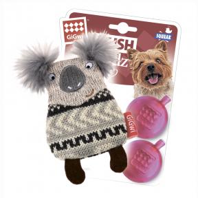 Игрушка для собак GiGwi Plush Friendz Коала с 2-мя пищалками (75511) 10 см