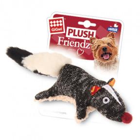 Игрушка для собак GiGwi Plush Friendz Скунс с пищалкой (75386) 9 см