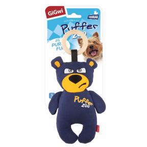 Игрушка для собак GiGwi Puffer Zoo Медведь с пищалкой (75500) 26 см