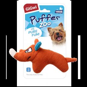 Игрушка для собак GiGwi Puffer Zoo Носорог с пищалкой (75531)