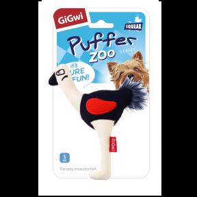 Игрушка для собак GiGwi Puffer Zoo Страус с пищалкой (75532)