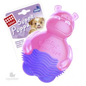 Игрушка для собак GiGwi Suppa Puppa Бегемот с пищалкой (75425) 10 см
