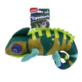 Игрушка для собак GiGwi Tropicana Хамелеон с пищалкой (75503) 26 см