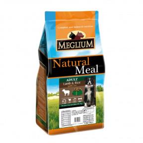 Сухой корм для собак Meglium Natural Meal Adult Lamb & Rice при чувствительном пищеварении, с ягненком и рисом 3 кг
