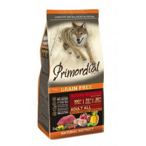 Сухой корм для собак PRIMORDIAL Grain Free Adult All Breed беззерновой, с буйволом, с макрелью 2 кг