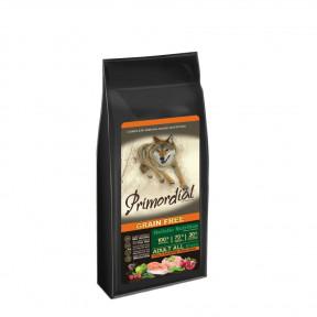 Сухой корм для собак PRIMORDIAL Grain Free Adult All Breed беззерновой, с курицей, с лососем 12 кг