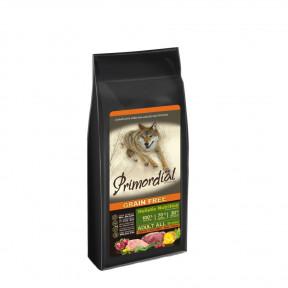 Сухой корм для собак PRIMORDIAL Grain Free Adult All Breed беззерновой, с олениной, с индейкой 12 кг
