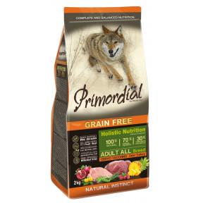 Сухой корм для собак PRIMORDIAL Grain Free Adult All Breed беззерновой, с олениной, с индейкой 2 кг