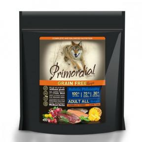Сухой корм для собак PRIMORDIAL Grain Free Adult All Breed беззерновой, с тунцом, с ягненком 400 г
