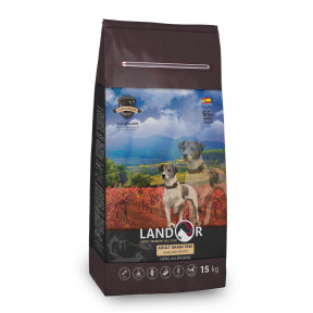 Сухой корм для любой собаки LANDOR Adult Grain Free беззерновой, с ягненком и бататом 15 кг