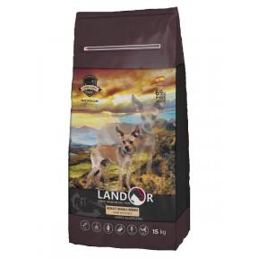 Сухой корм для собак LANDOR Adult Small Breed гипоаллергенный, c ягненком и рисом (для мелких пород) 15 кг