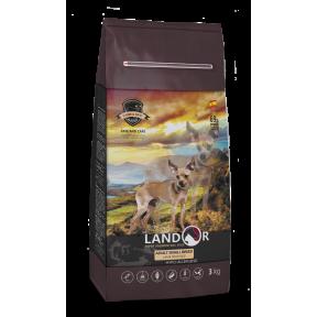 Сухой корм для собак LANDOR Adult Small Breed гипоаллергенный, c ягненком и рисом (для мелких пород) 3 кг