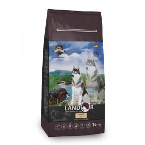 Сухой корм для собак LANDOR Adult с рыбой с рисом 15 кг