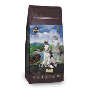 Сухой корм для собак LANDOR Adult с рыбой с рисом 3 кг