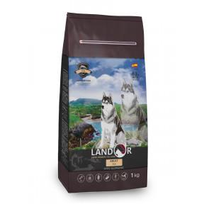 Сухой корм для собак LANDOR Adult с рыбой с рисом 1 кг