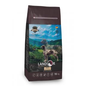 Сухой корм для собак LANDOR Adult с мясом ягненка и с рисом 15 кг