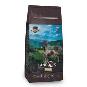 Сухой корм для собак LANDOR Adult с мясом ягненка и с рисом 1 кг