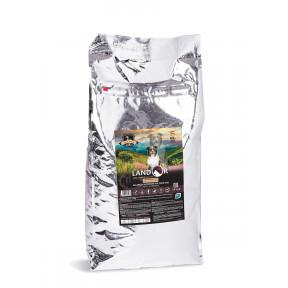 Сухой корм для взрослых и пожилых собак LANDOR Senior and Adult гипоаллергенный, для улучшения мозговой деятельности, с уткой 15 кг
