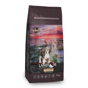 Сухой корм для щенков любой породы LANDOR Puppy All Breed с уткой с рисом 1 кг
