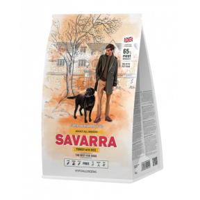 Сухой корм для собак SAVARRA Adult All Breeds c индейкой, с рисом 1 кг