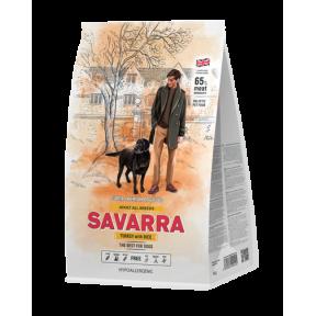 Сухой корм для собак SAVARRA Adult All Breeds c индейкой, с рисом 3 кг