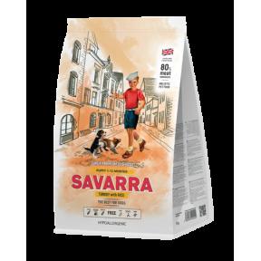 Сухой корм для щенков SAVARRA Puppy с индейкой, с рисом 1 кг