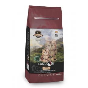 Сухой корм для котят LANDOR Kitten беззерновой, c уткой и рисом 400 г