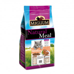 Сухой корм для кошек Meglium Natural Meal c курицей, с индейкой 15 кг