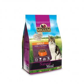 Сухой корм для кошек Meglium Natural Meal c курицей, с индейкой 400 г